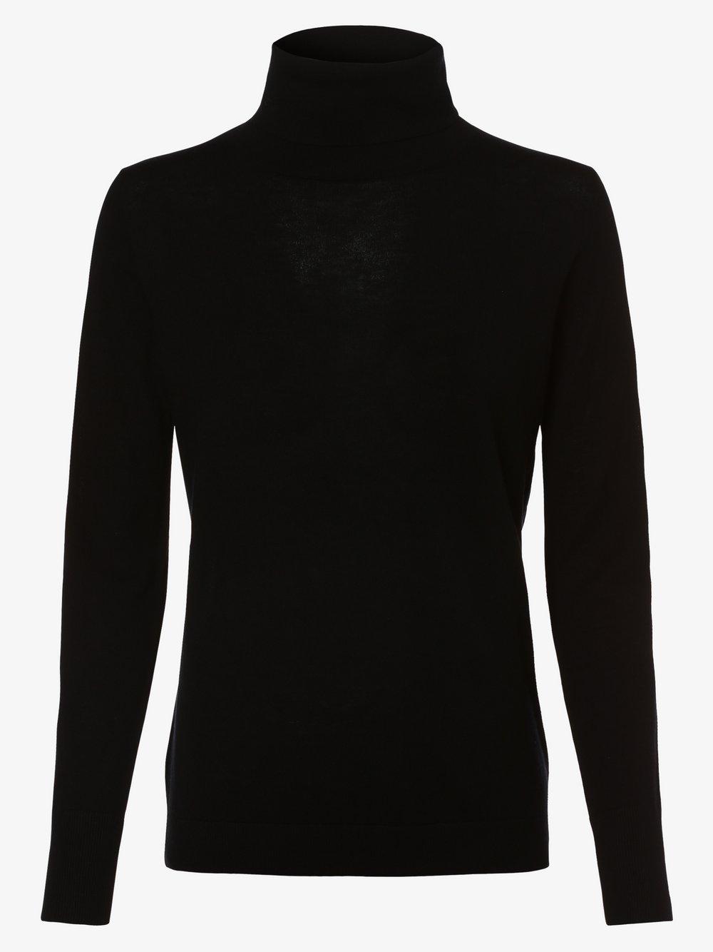 SvB Exquisit – Damski sweter z wełny merino, czarny Van Graaf 479071-0001-00440
