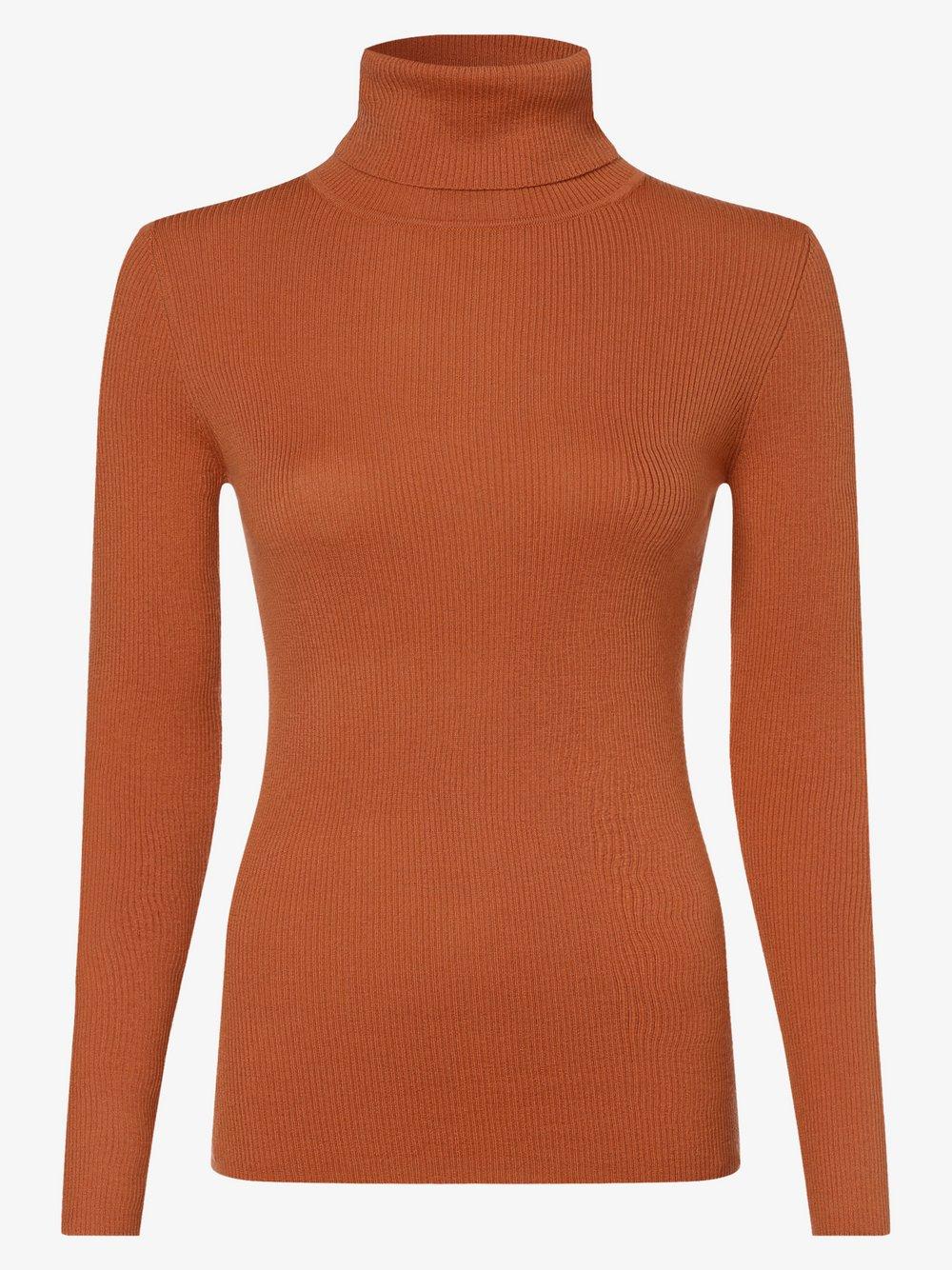 SvB Exquisit – Damski sweter z wełny merino, pomarańczowy Van Graaf 479074-0003-00420
