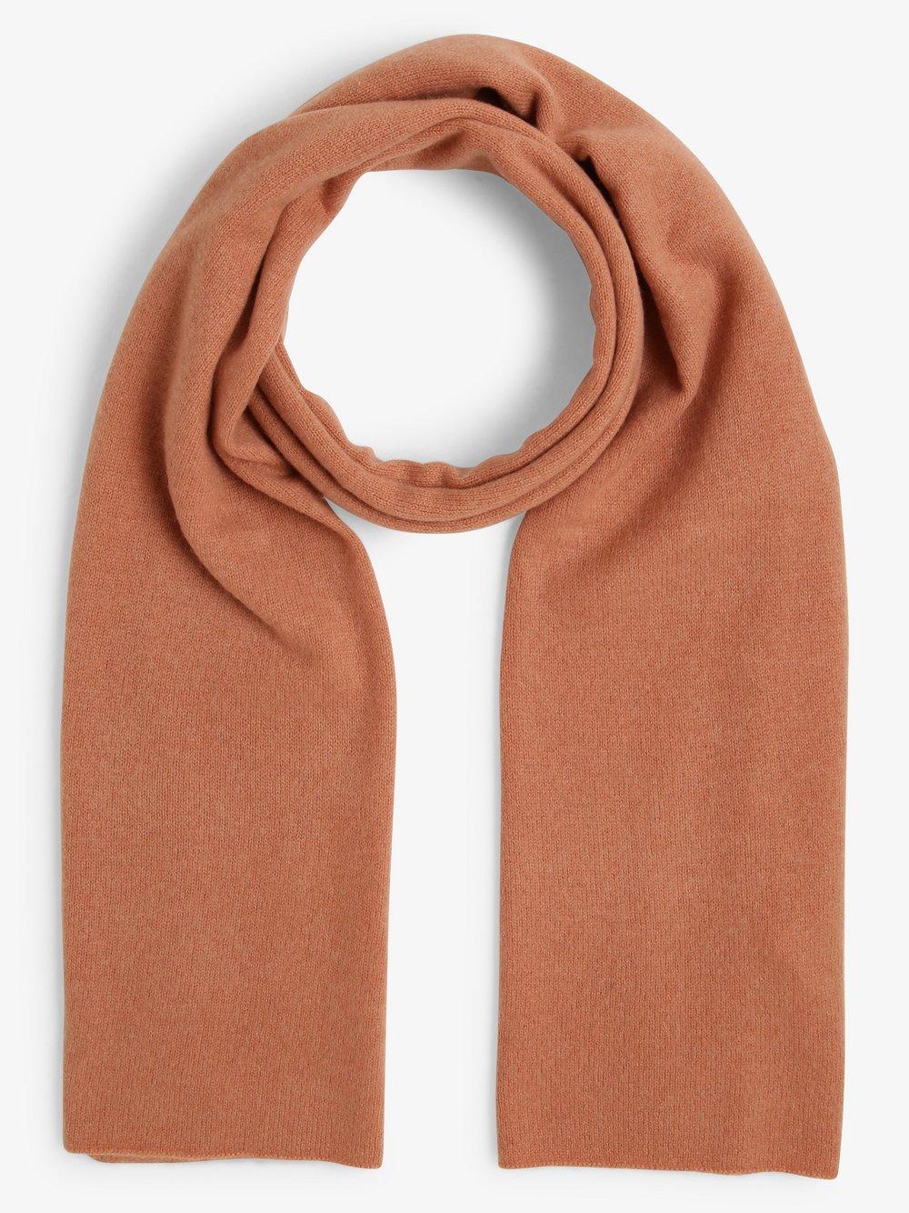SvB Exquisit - Damski szalik z czystego kaszmiru, pomarańczowy