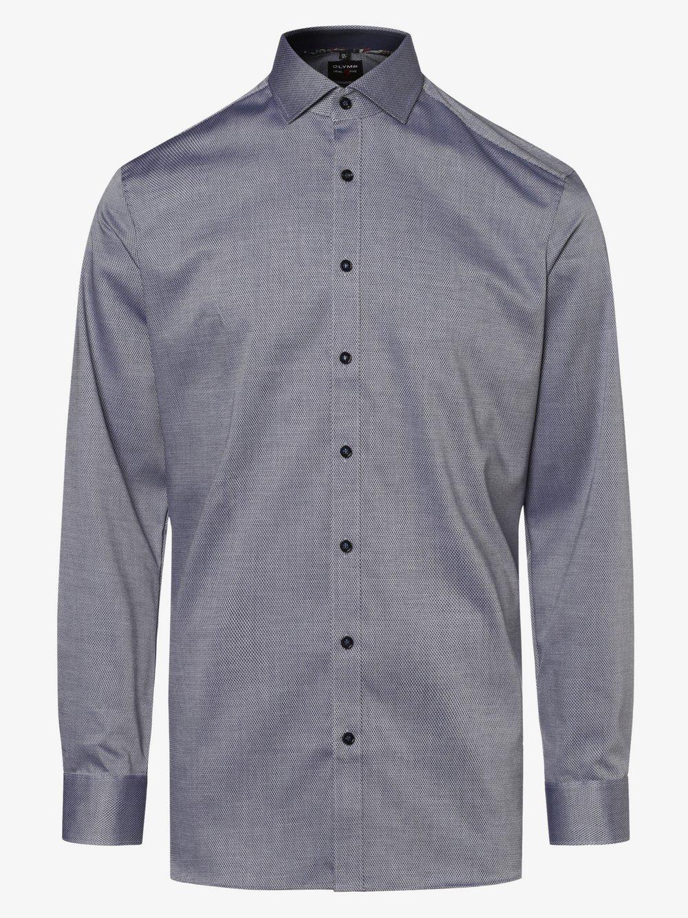Olymp Level Five - Koszula męska łatwa w prasowaniu z bardzo długim rękawem, niebieski
