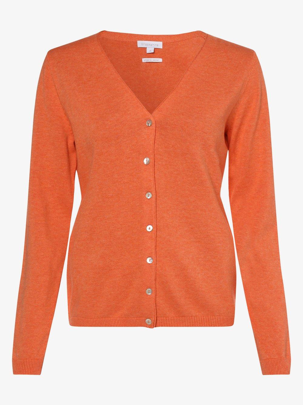 brookshire - Kardigan damski, pomarańczowy