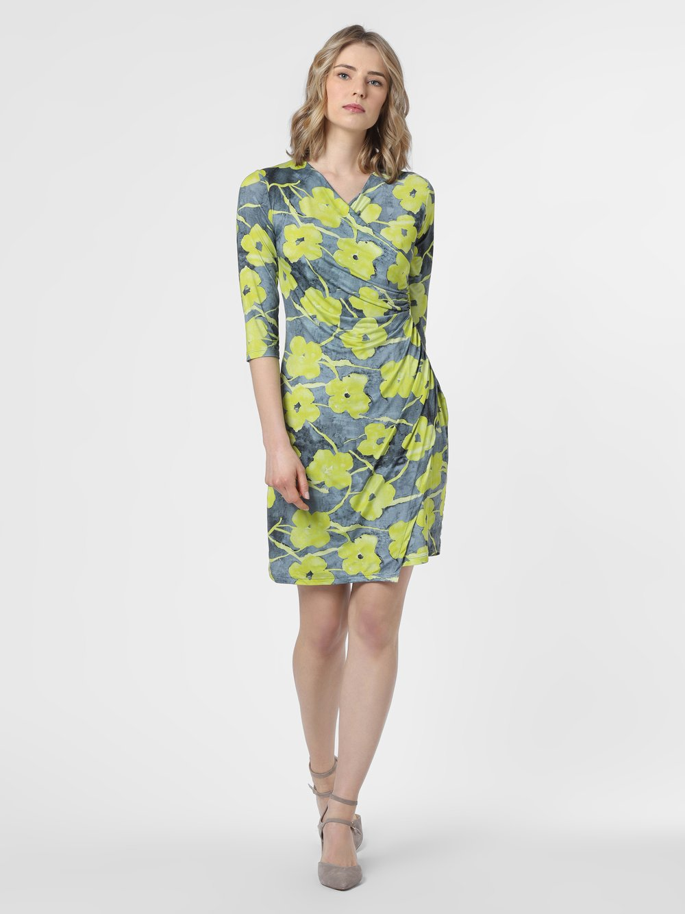 Cartoon Daydream – Sukienka damska, żółty Van Graaf 479719-0001