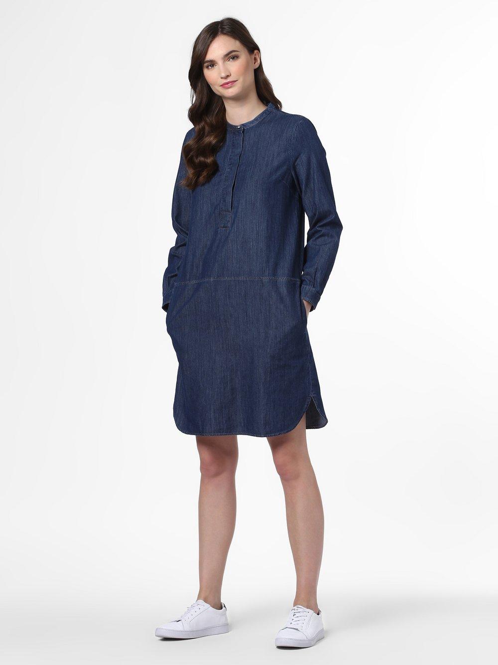 Cartoon Daydream – Damska sukienka jeansowa, niebieski Van Graaf 479721-0001-00360