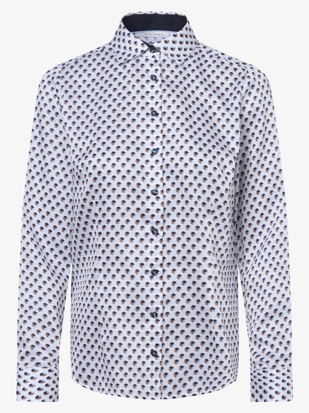 Eterna Comfort Fit - Bluzka damska – łatwa w prasowaniu, biały