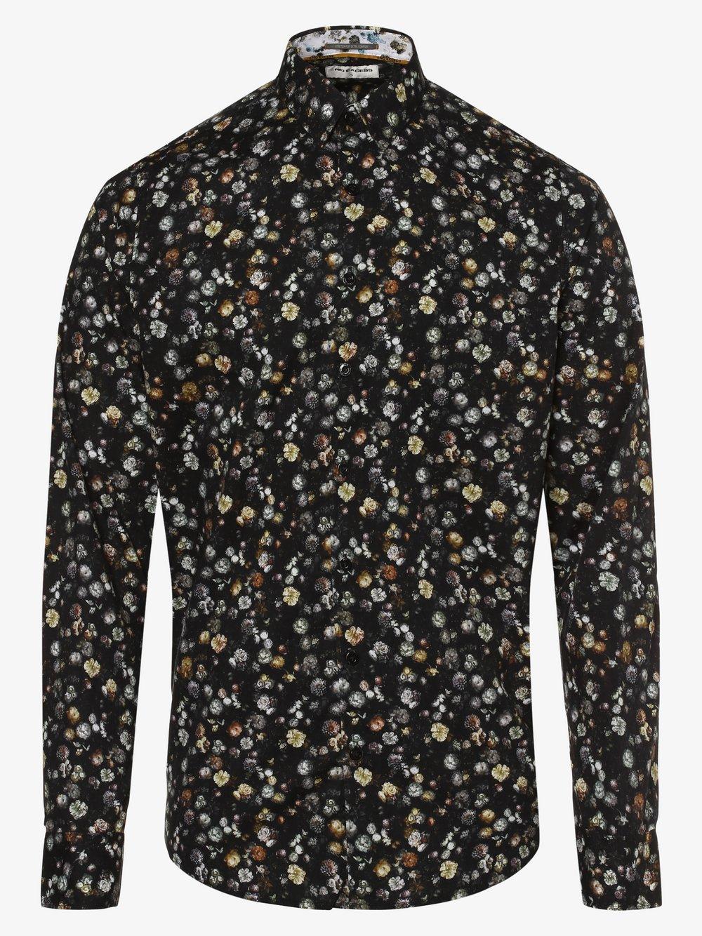 No Excess – Koszula męska, czarny Van Graaf 480620-0001