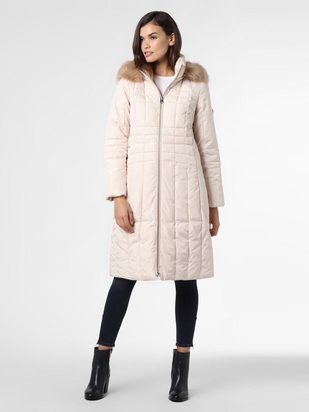 Calvin Klein - Damski płaszcz pikowany, beżowy