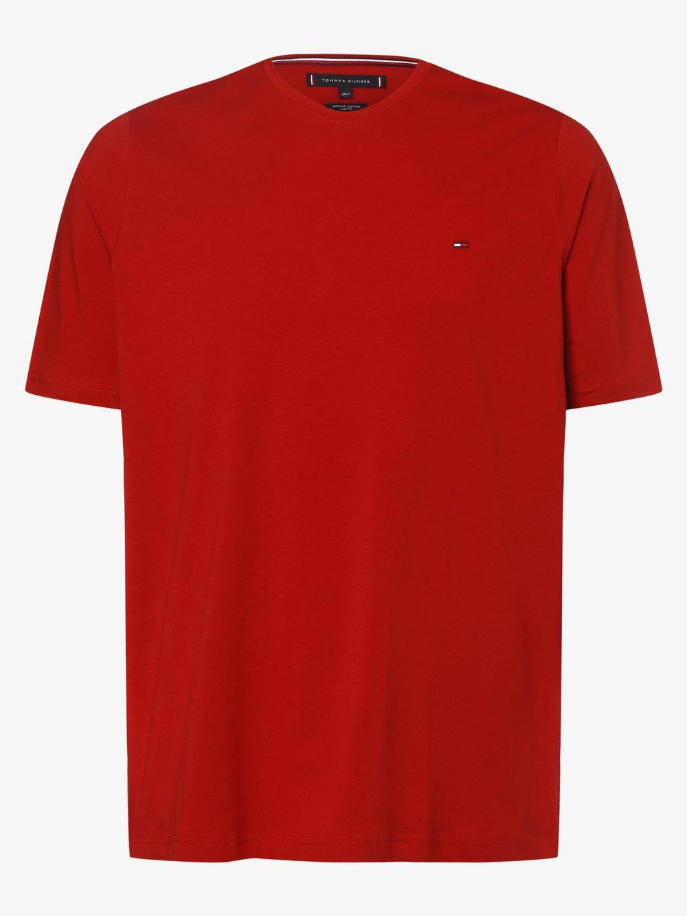 Tommy Hilfiger - T-shirt męski – Big & Tall, czerwony