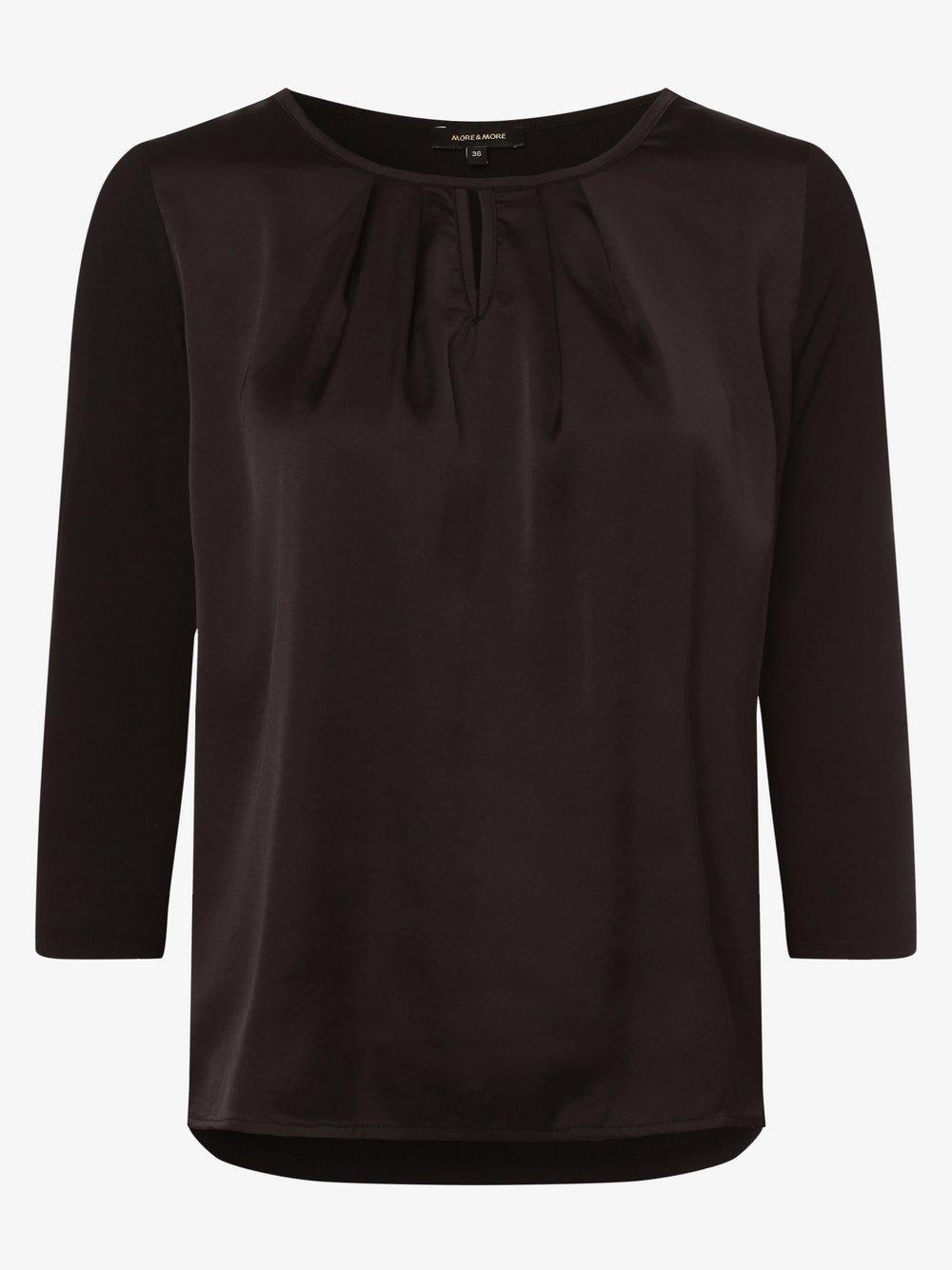 More & More – Damska koszulka z długim rękawem, czarny Van Graaf 481600-0002-00360