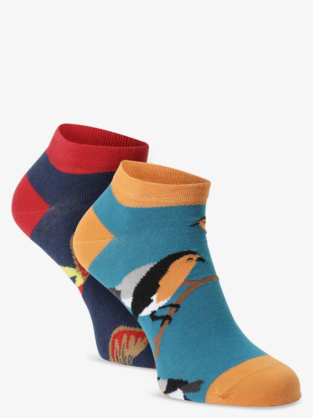 Unabux – Skarpety do obuwia sportowego pakowane po 2 szt., niebieski Van Graaf 482126-0001-04146