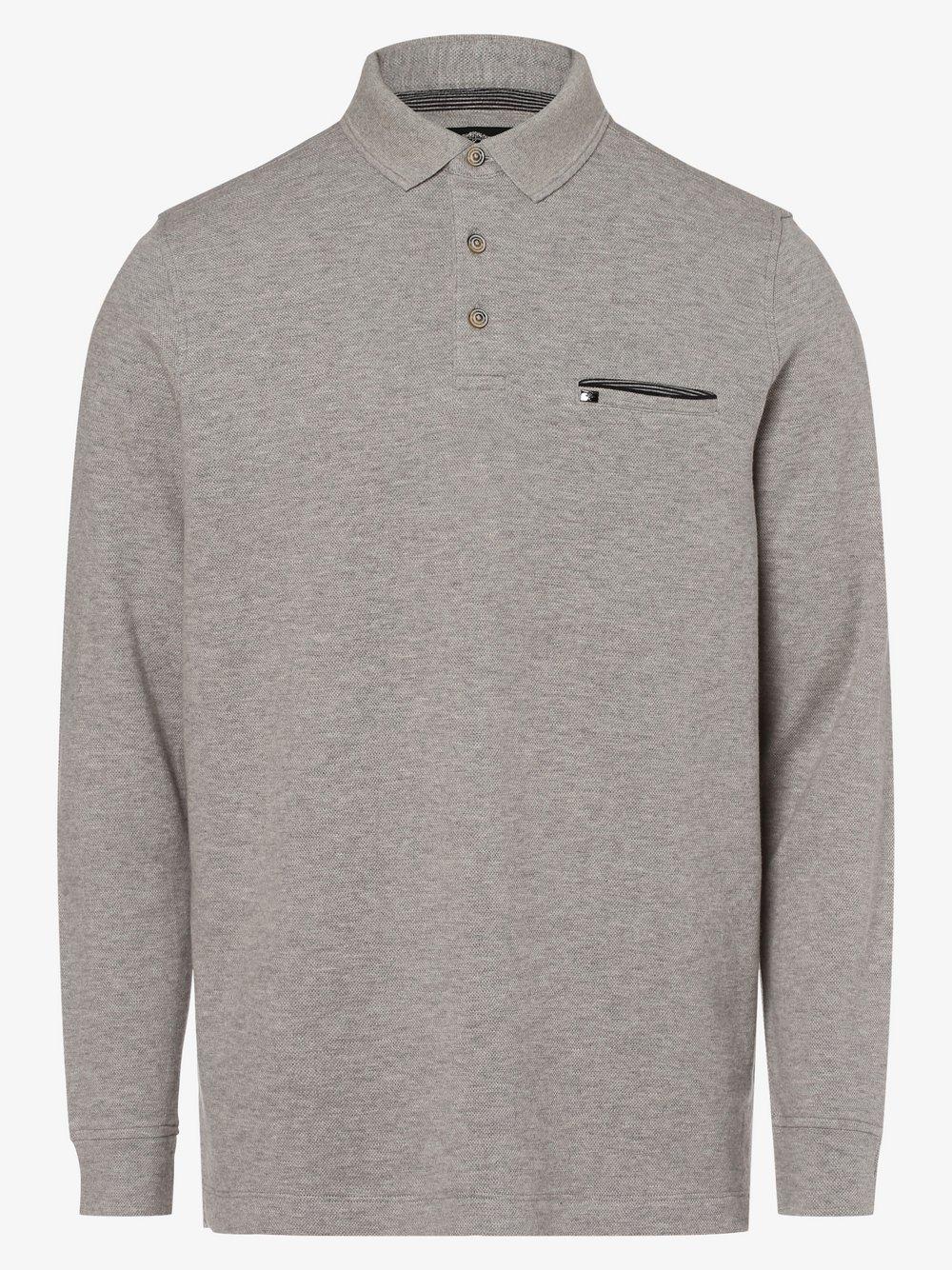 Fynch-Hatton – Męska koszulka polo, szary Van Graaf 482350-0002-09900