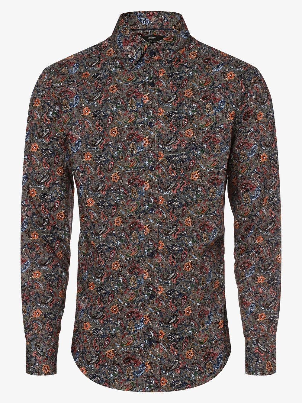 Fynch-Hatton – Koszula męska, brązowy Van Graaf 482427-0001-09940