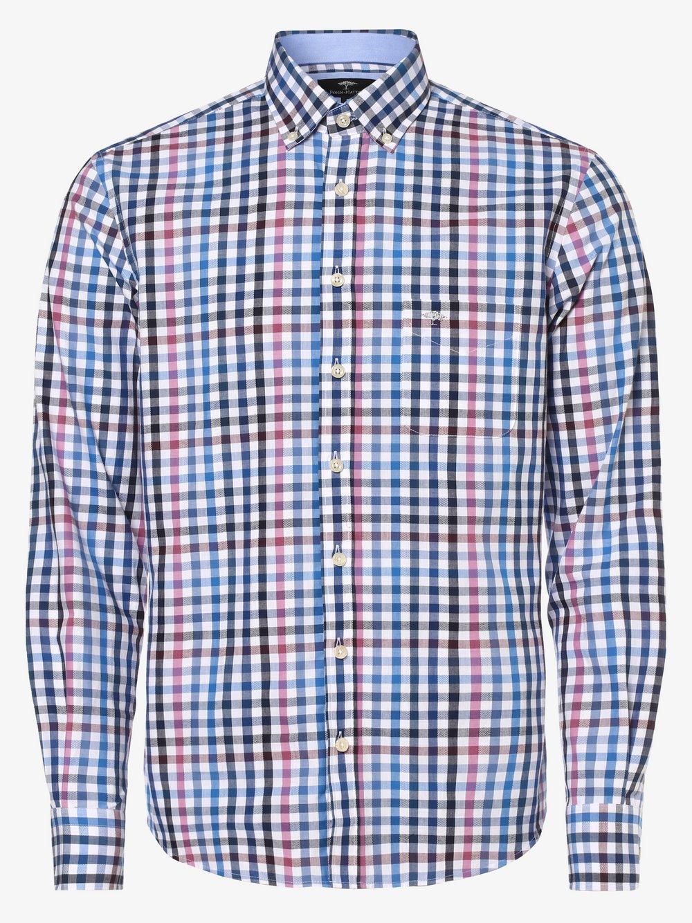 Fynch-Hatton – Koszula męska, niebieski Van Graaf 482428-0004