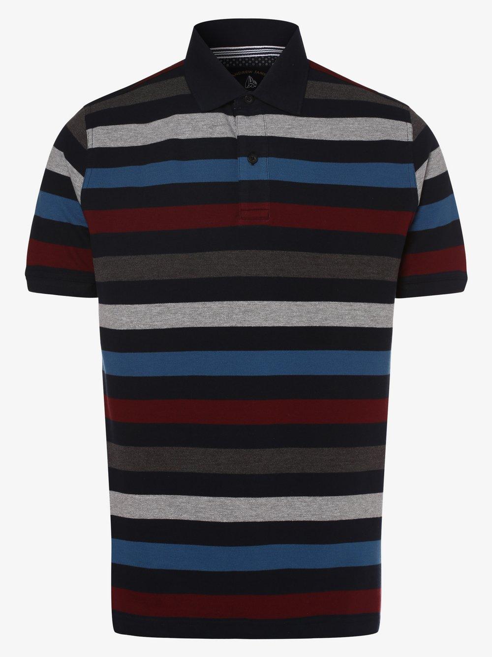 Andrew James Sailing - Męska koszulka polo, niebieski