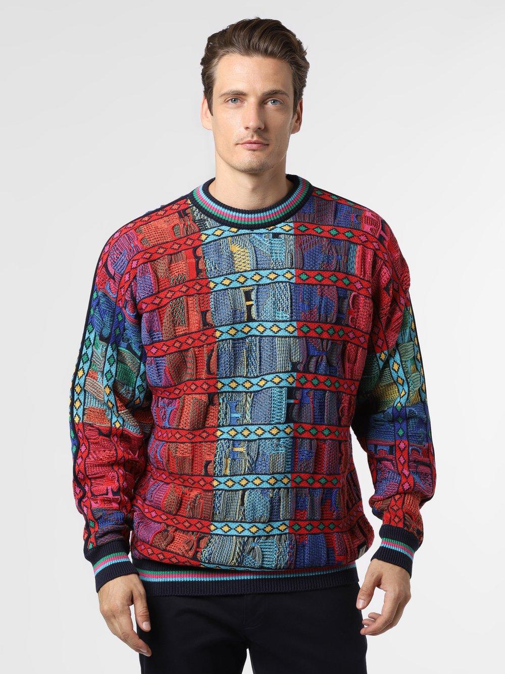 Carlo Colucci – Sweter męski, niebieski Van Graaf 482574-0002