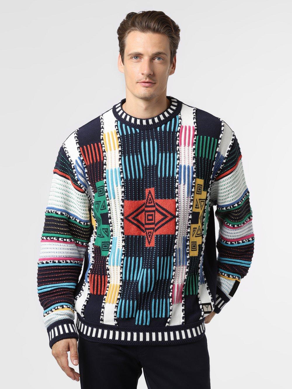 Carlo Colucci – Sweter męski, niebieski Van Graaf 482576-0001-09990