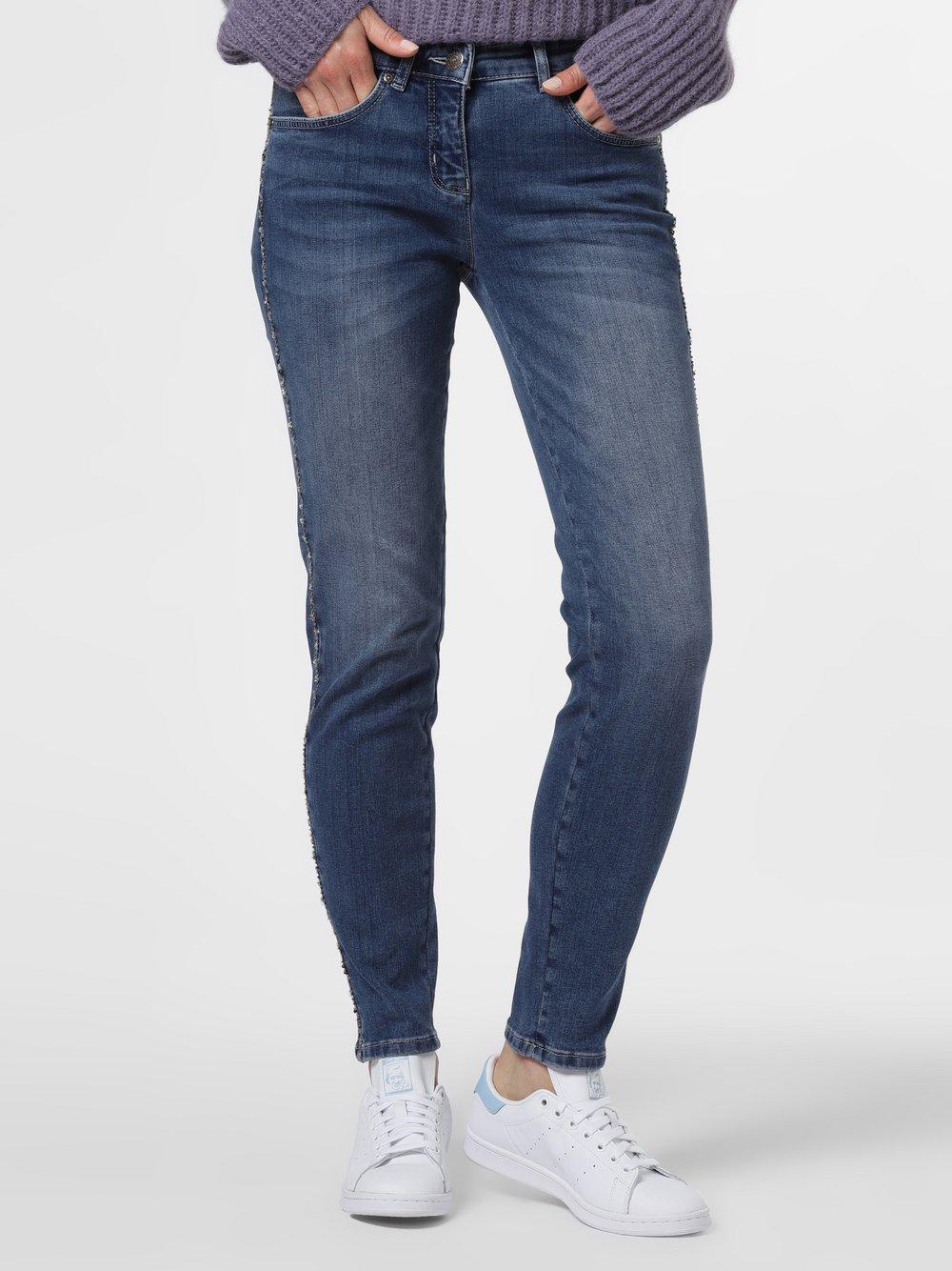 TONI – Jeansy damskie – Perfect Shape Skinny, niebieski Van Graaf 483316-0001-00440