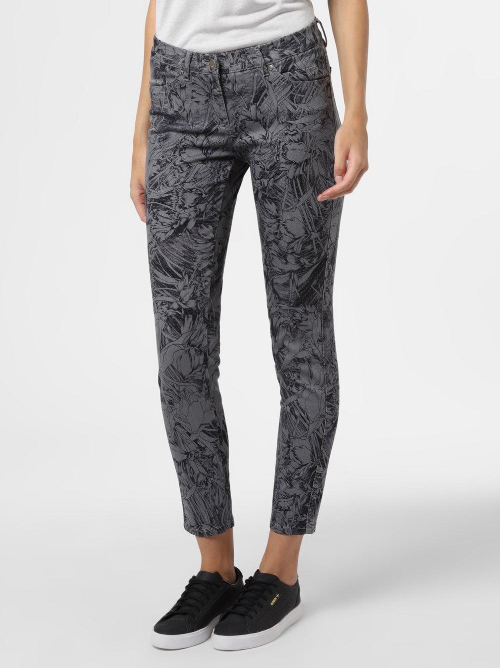 TONI – Spodnie damskie – Perfect Shape Skinny, szary Van Graaf 483319-0001-00460