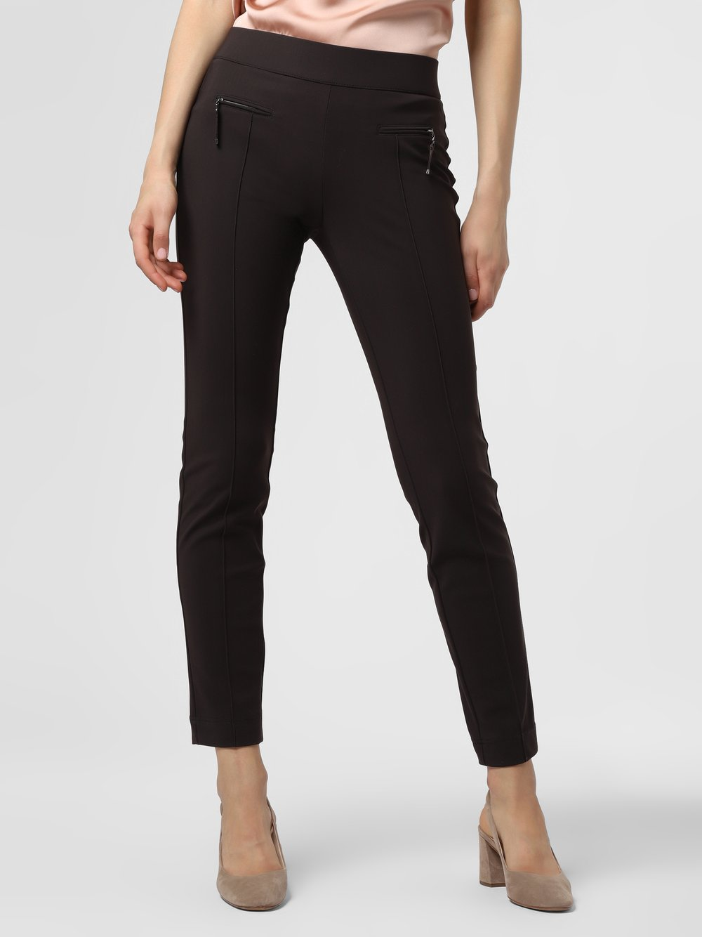 RAFFAELLO ROSSI – Spodnie damskie – Otti, brązowy Van Graaf 483800-0001-00420