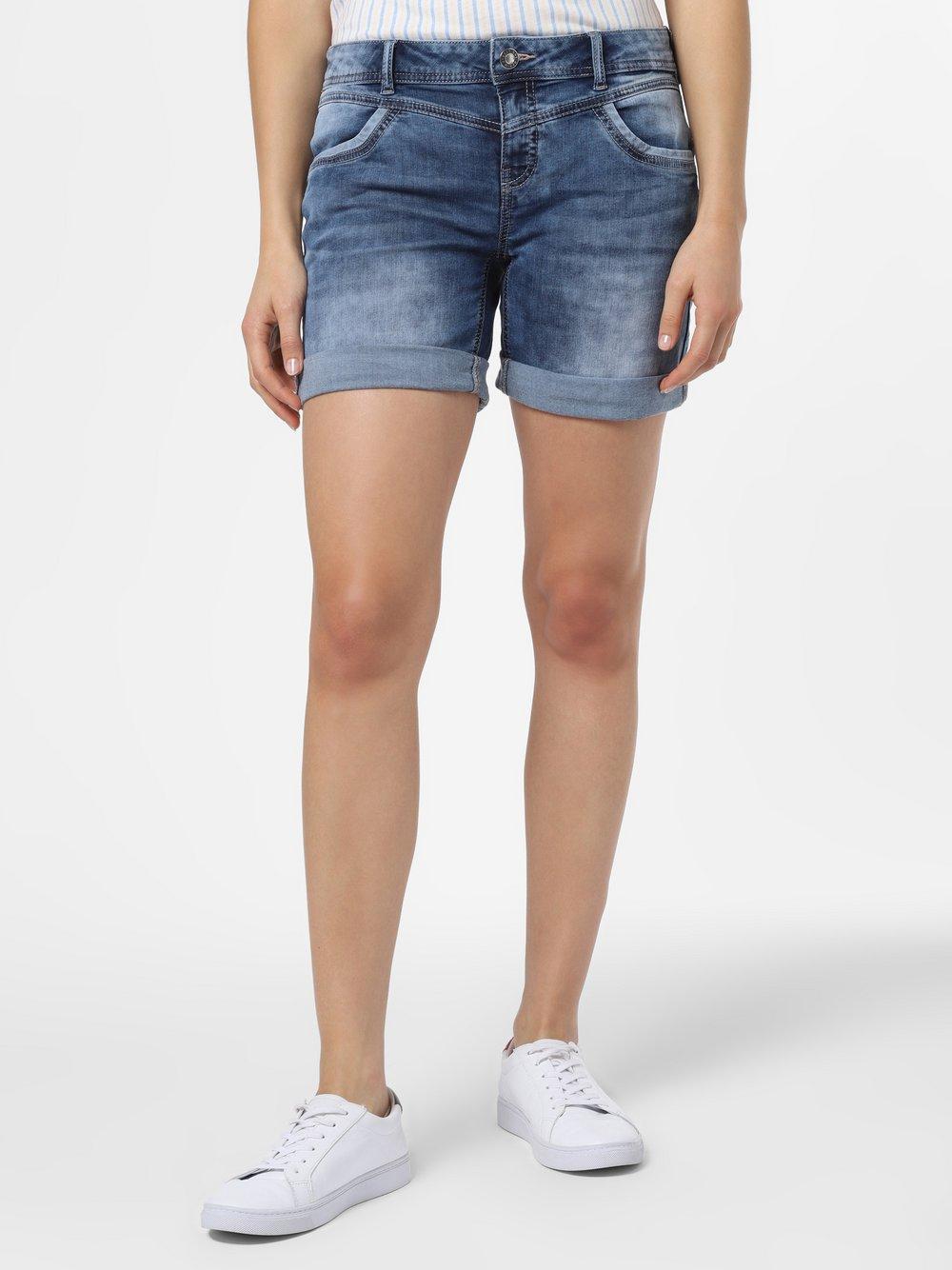 Street One – Damskie krótkie spodenki jeansowe, niebieski Van Graaf 483873-0001-00340
