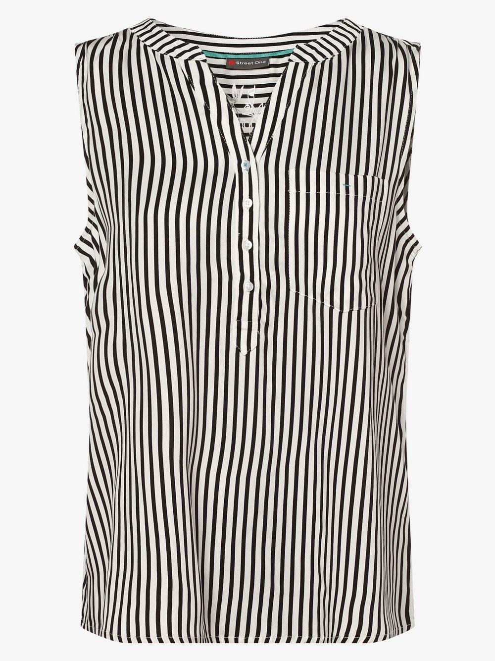 Street One – Damska bluzka bez rękawów, biały Van Graaf 483901-0001-00360