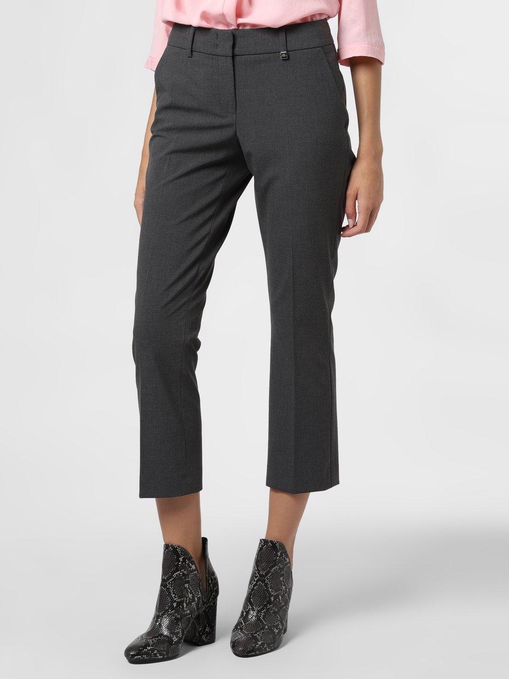 RAFFAELLO ROSSI – Spodnie damskie – Dora Cropped, szary Van Graaf 483910-0001-00420