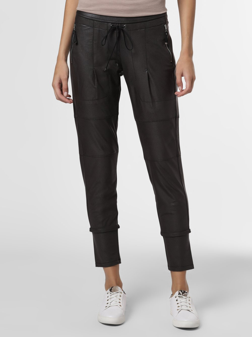 RAFFAELLO ROSSI – Spodnie damskie – Candy, brązowy Van Graaf 483912-0001