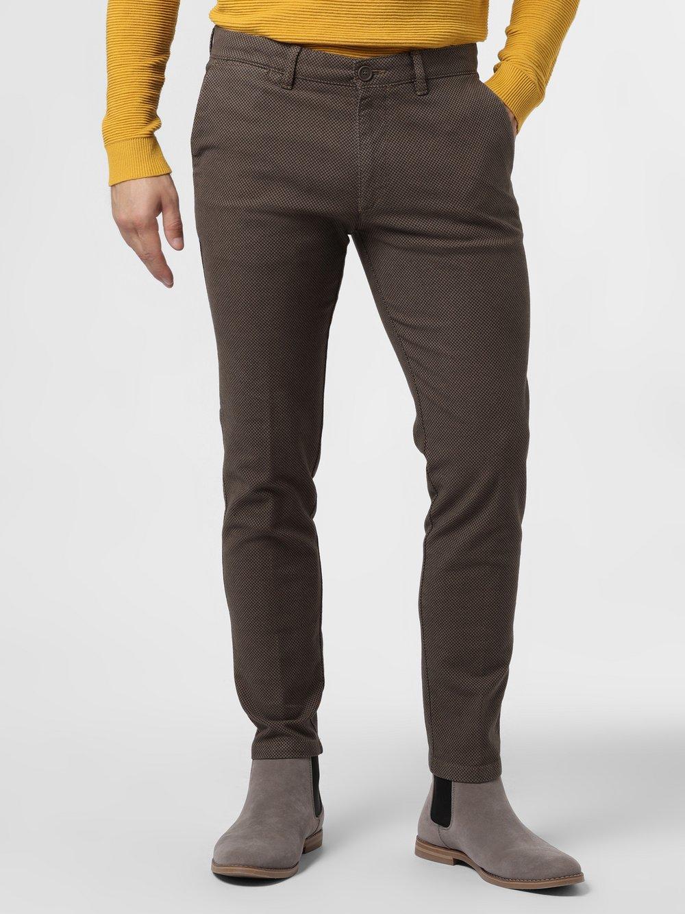 Drykorn - Spodnie męskie – Mad, beżowy