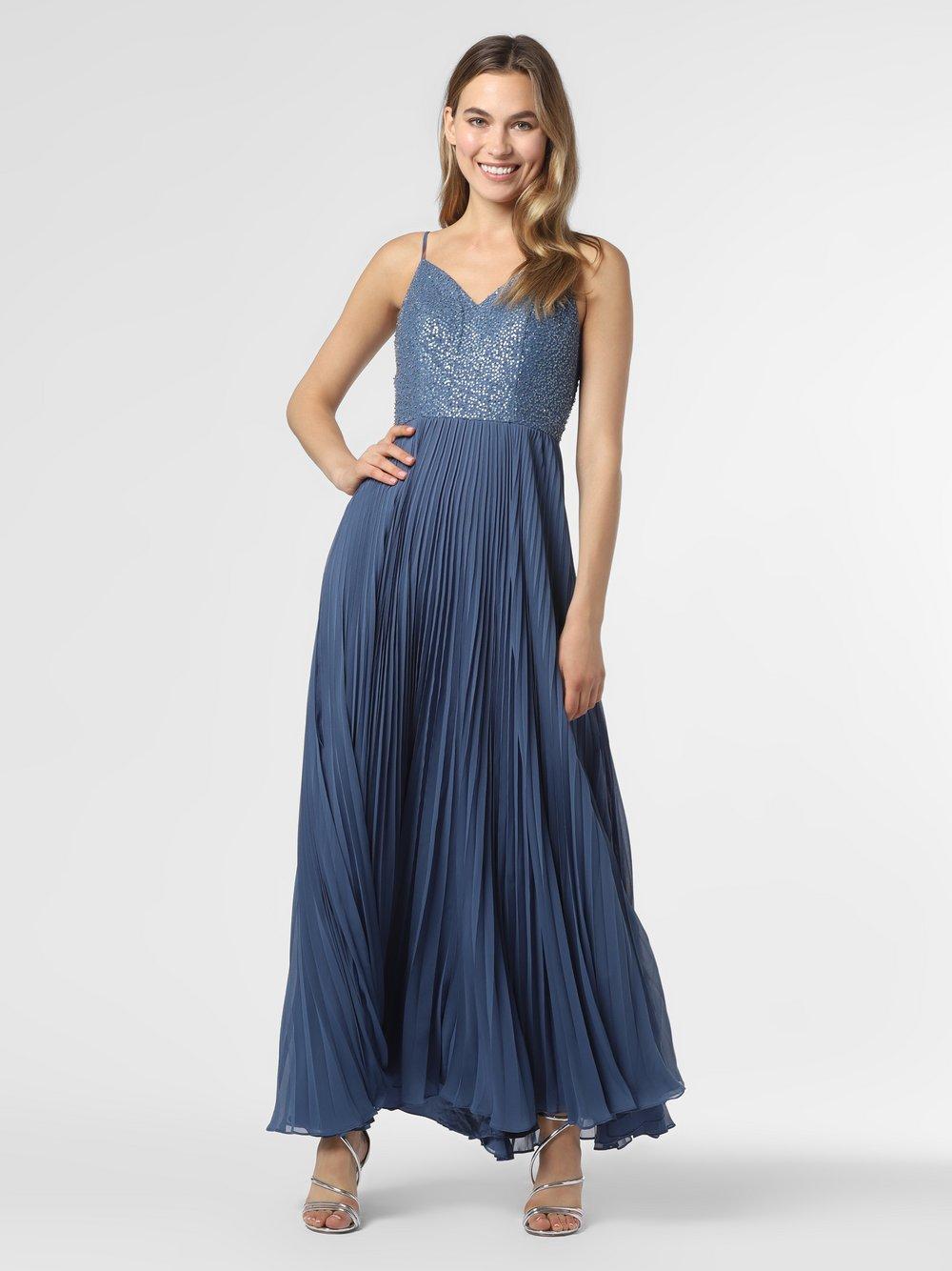 Laona – Damska sukienka wieczorowa, niebieski Van Graaf 484046-0001-00400