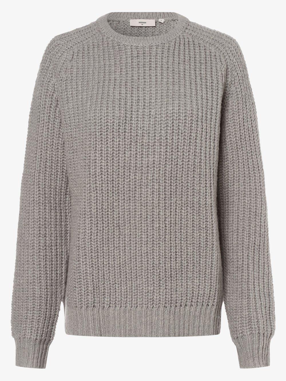 Minimum – Sweter damski – Emmeli, szary Van Graaf 484383-0001-09960