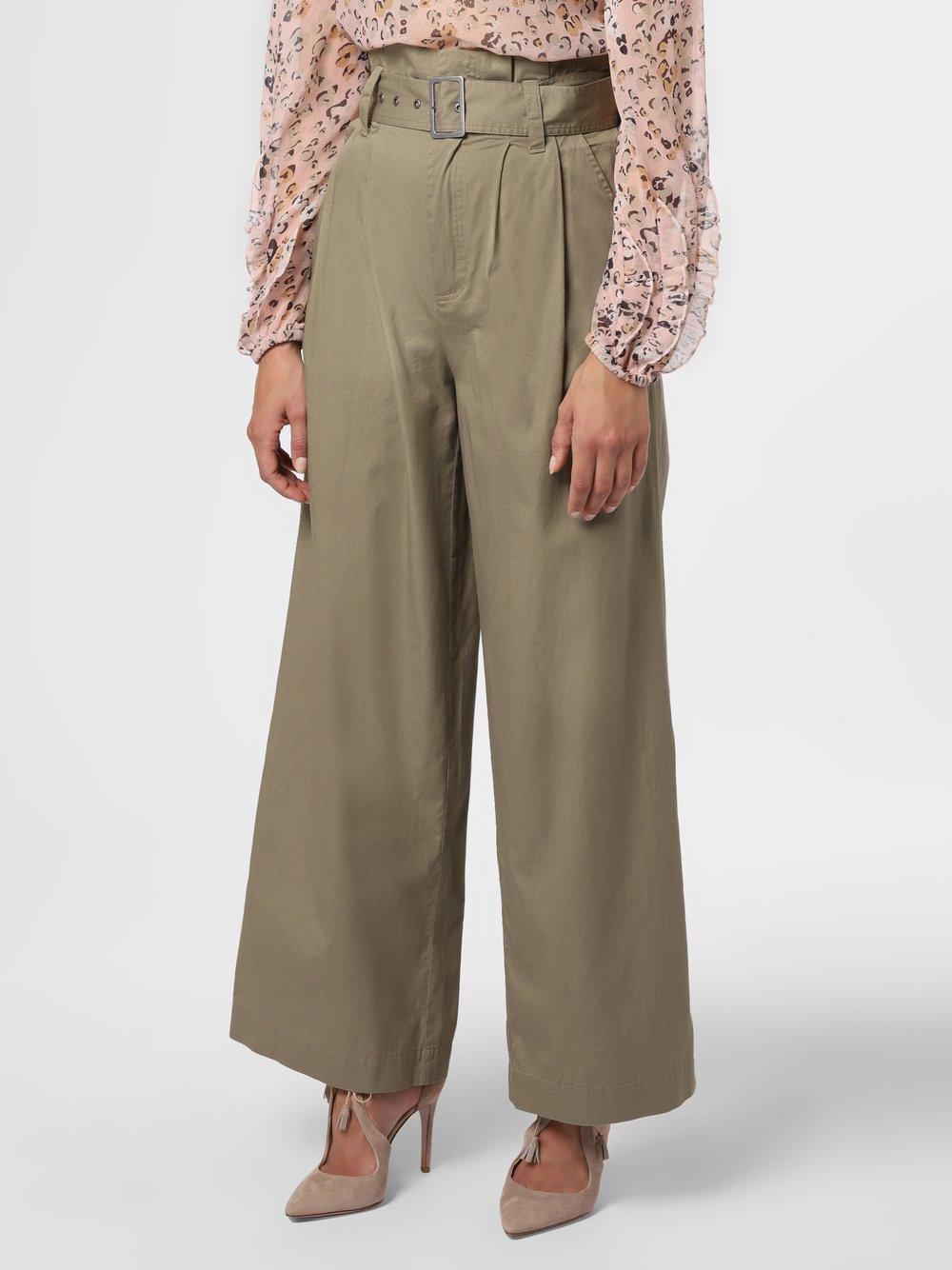 mbyM – Spodnie damskie – Tasha, zielony Van Graaf 484584-0001