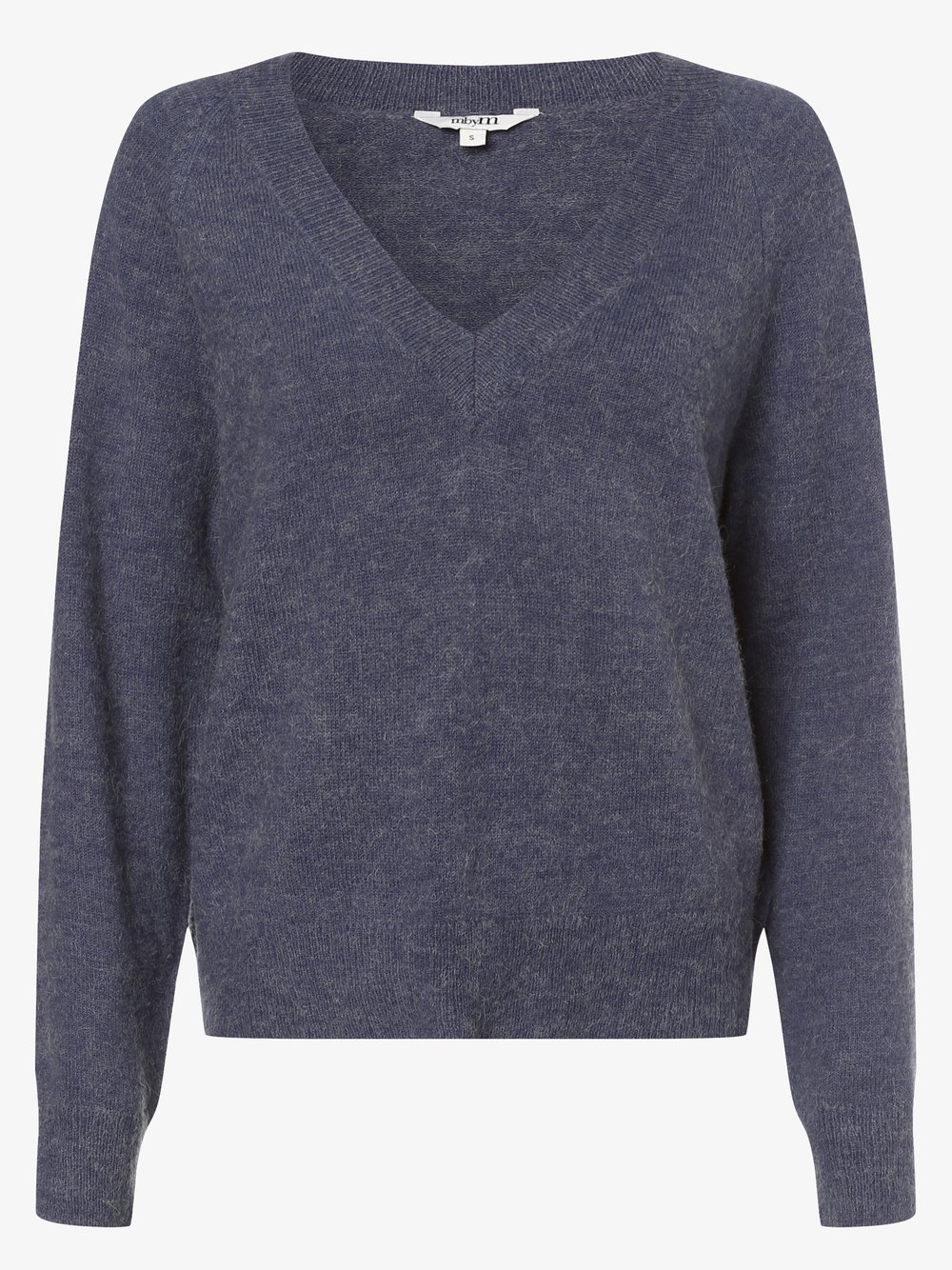 mbyM – Sweter damski z dodatkiem alpaki – Perlee, niebieski Van Graaf 484624-0002-09920