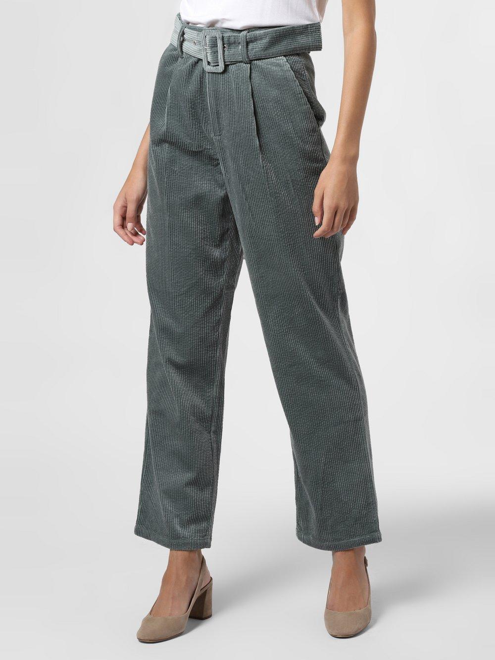 mbyM – Spodnie damskie – Jackson, zielony Van Graaf 484631-0001-09940
