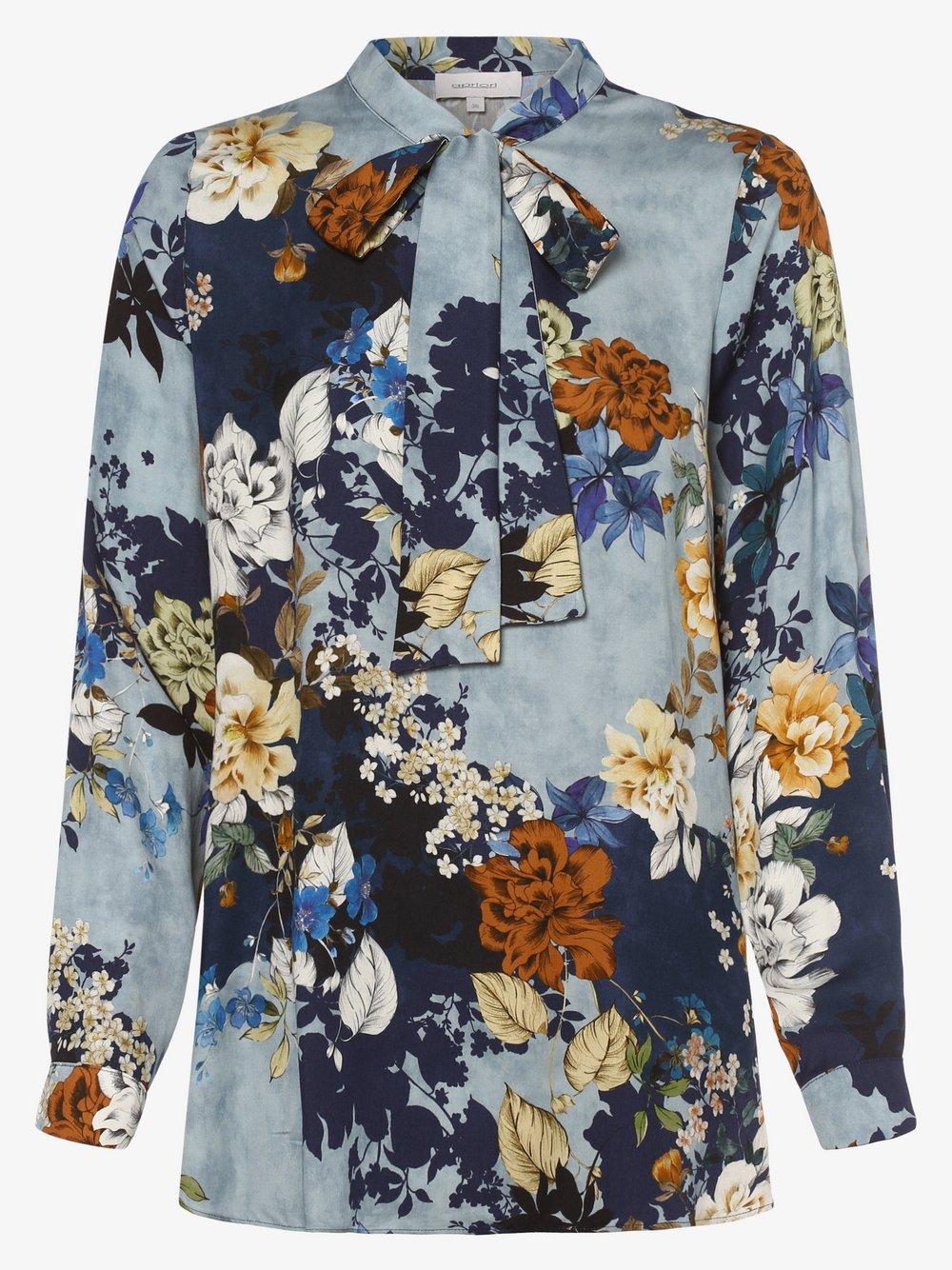 Apriori – Bluzka damska, niebieski Van Graaf 484724-0001-00460