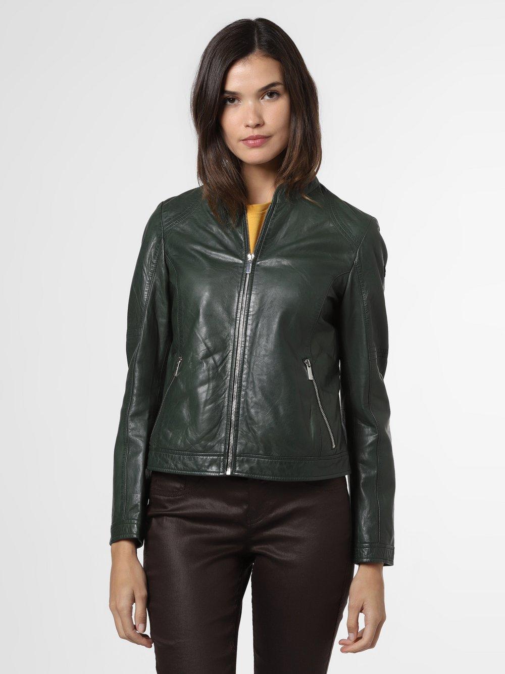 Milestone - Damska kurtka skórzana – Nella, zielony