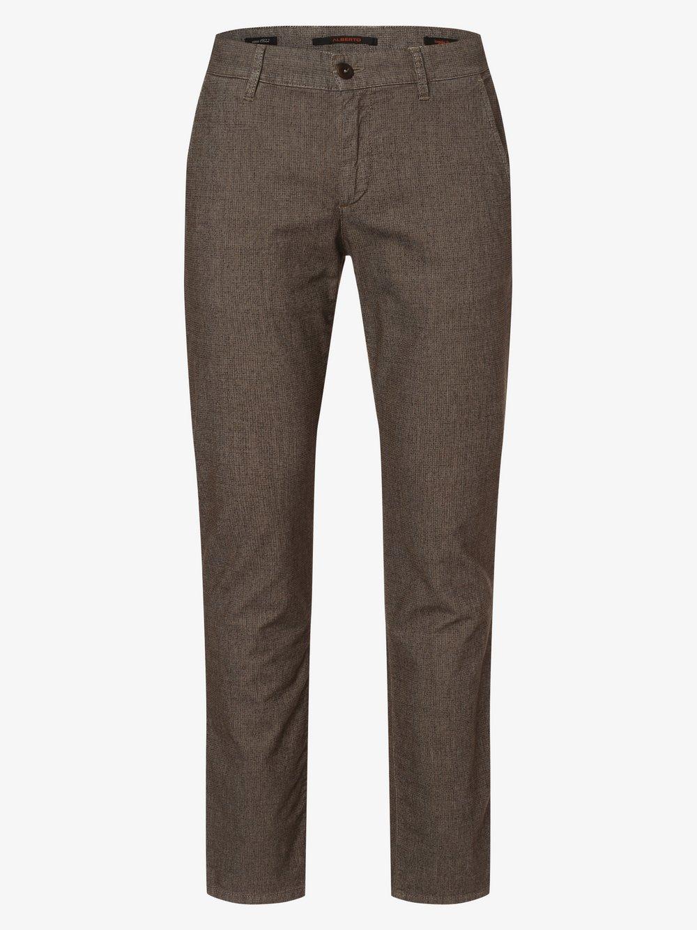 Alberto – Spodnie męskie – Lou-J, beżowy Van Graaf 485062-0001-03632