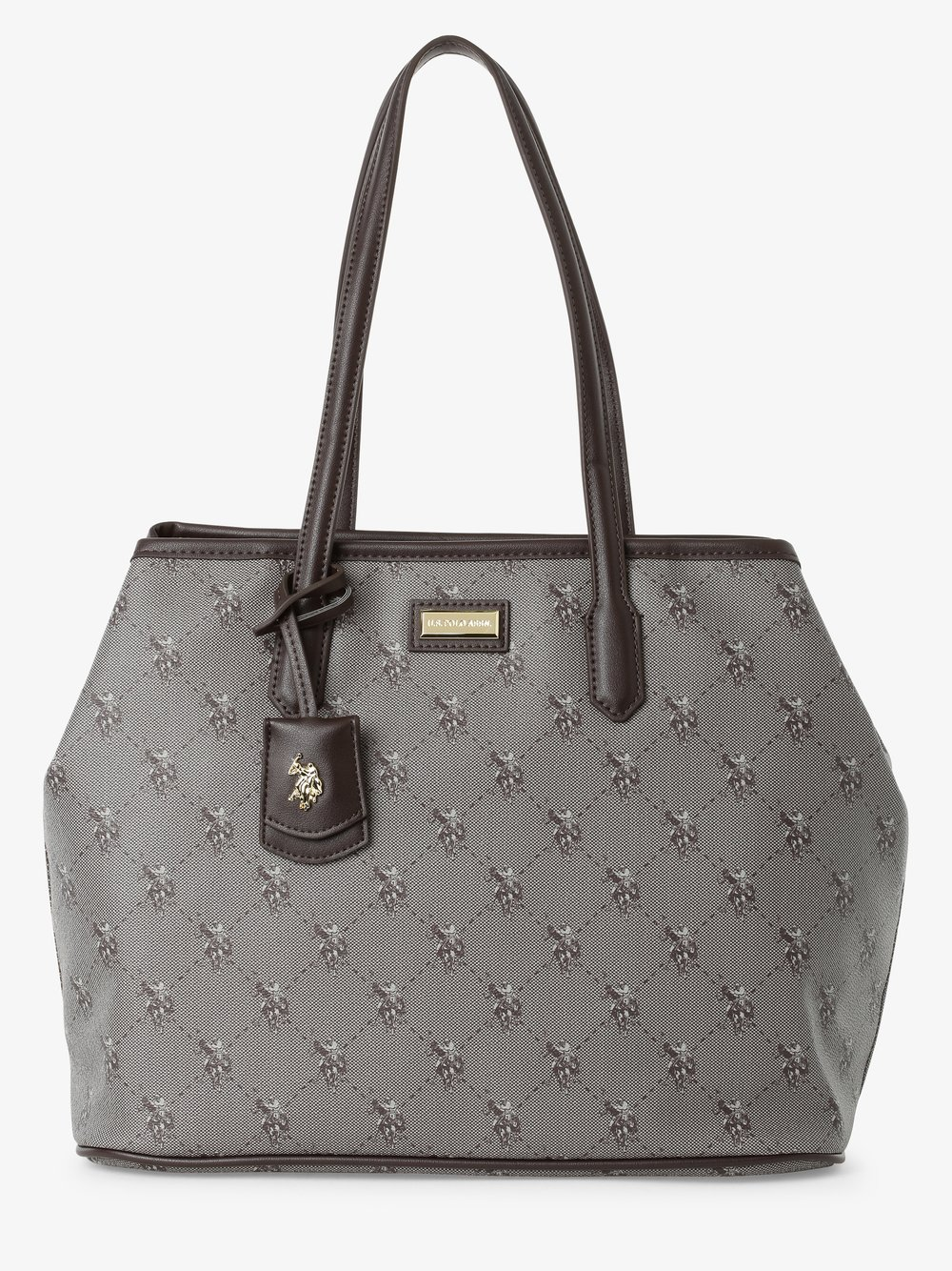 U.S. Polo Assn. – Damska torba shopper – Hampton, brązowy Van Graaf 485198-0002-00000