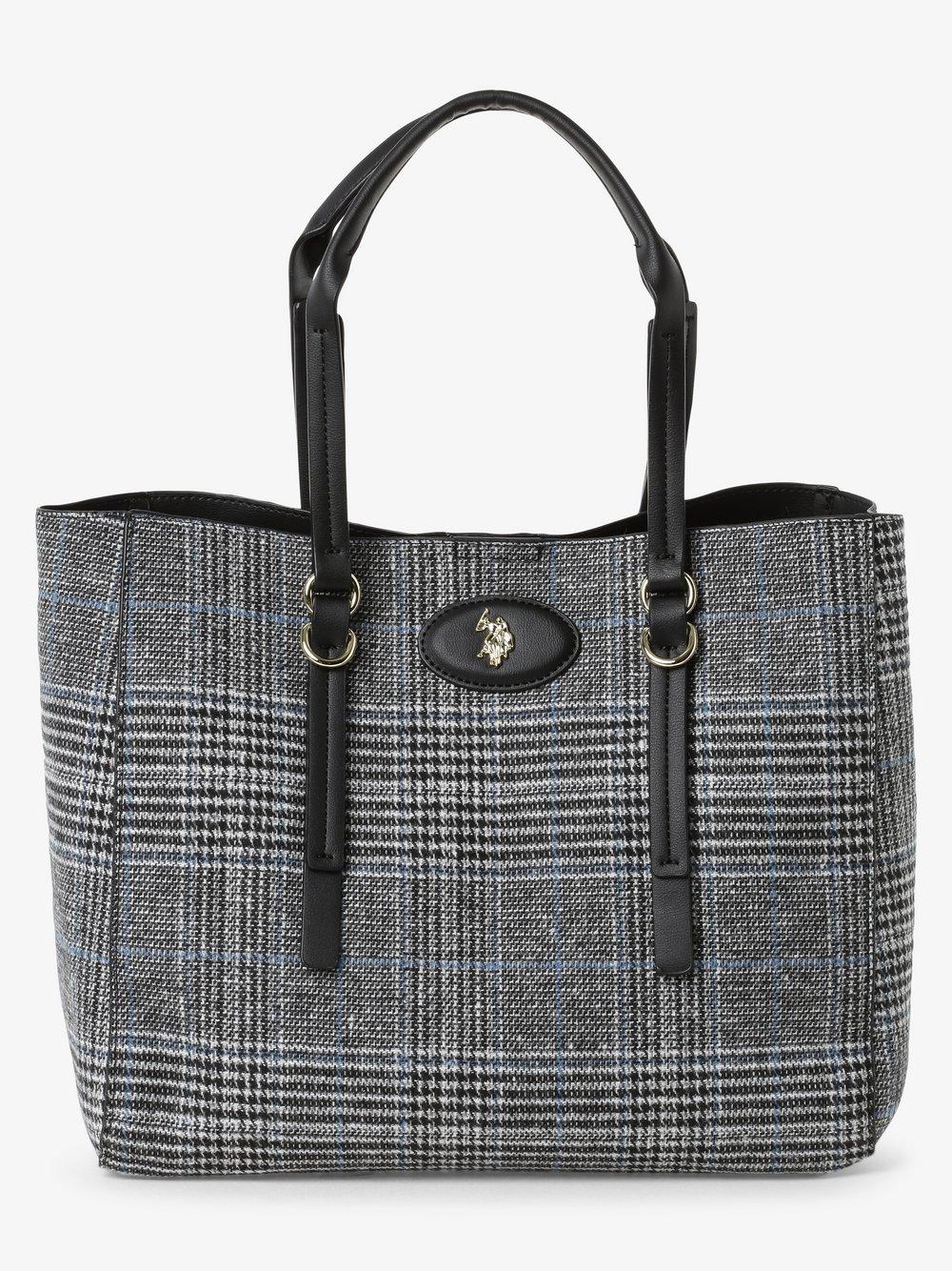 U.S. Polo Assn. – Damska torba shopper z torebką wewnętrzną, czarny Van Graaf 485204-0001-00000