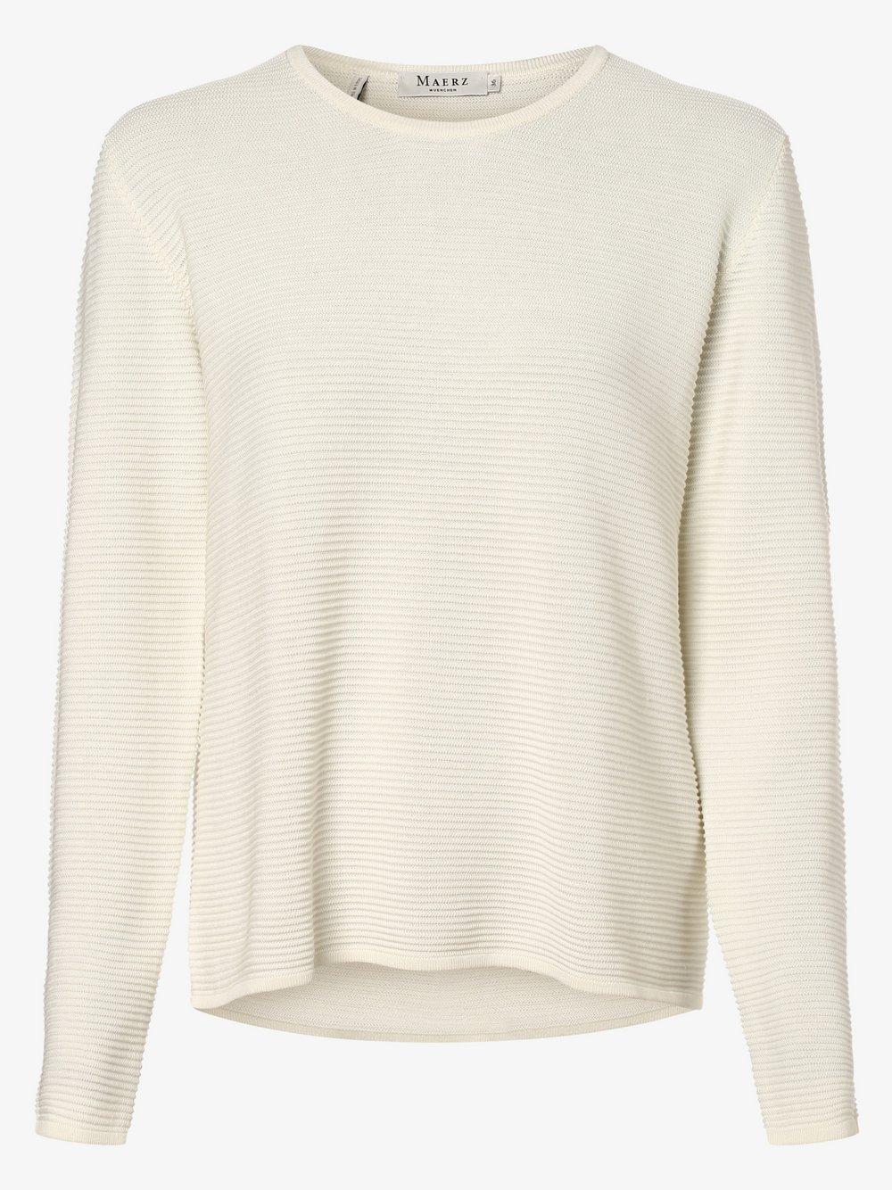 März – Sweter damski, biały Van Graaf 485800-0002