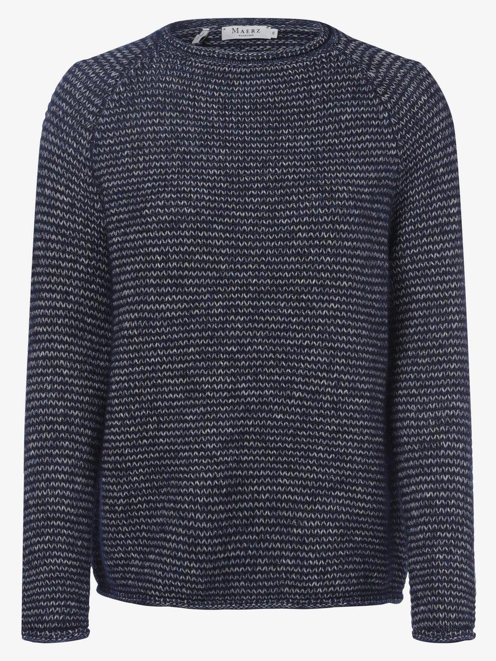 März – Sweter damski z dodatkiem alpaki, niebieski Van Graaf 485981-0002-00420