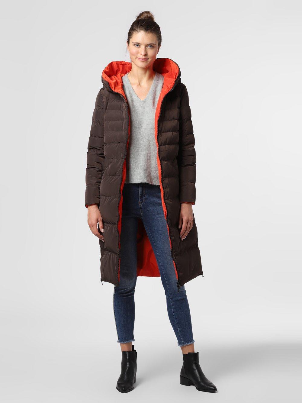 Rino & Pelle – Damski płaszcz dwustronny – Keila, brązowy Van Graaf 486005-0002