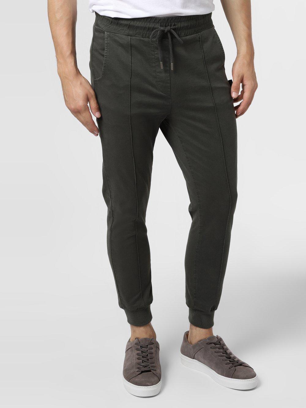 BE EDGY – Spodnie męskie – BELunik, zielony Van Graaf 486035-0001-09970
