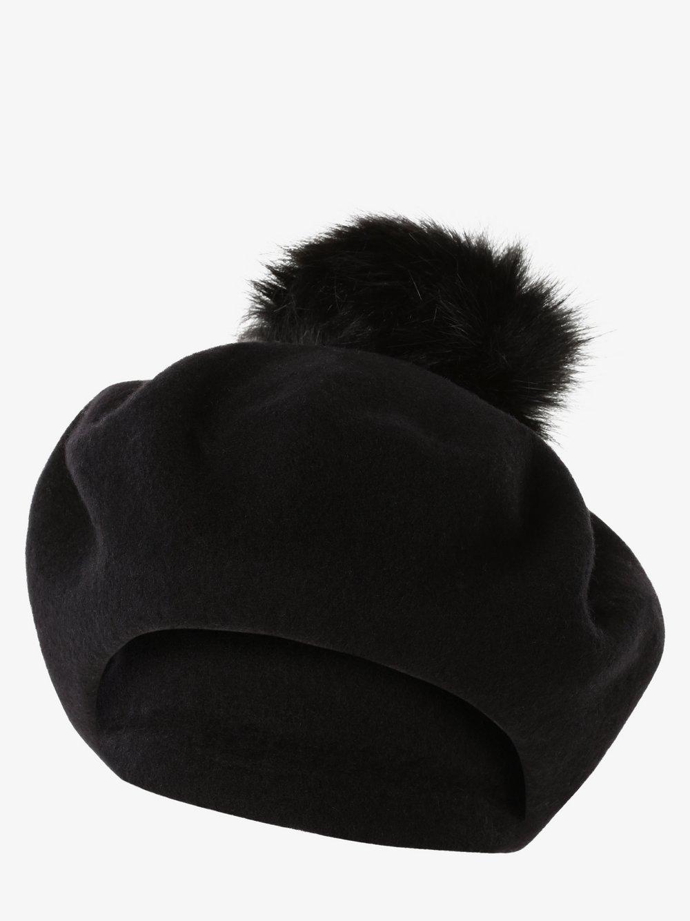 Loevenich – Czapka damska z wełny merino, czarny Van Graaf 486215-0001