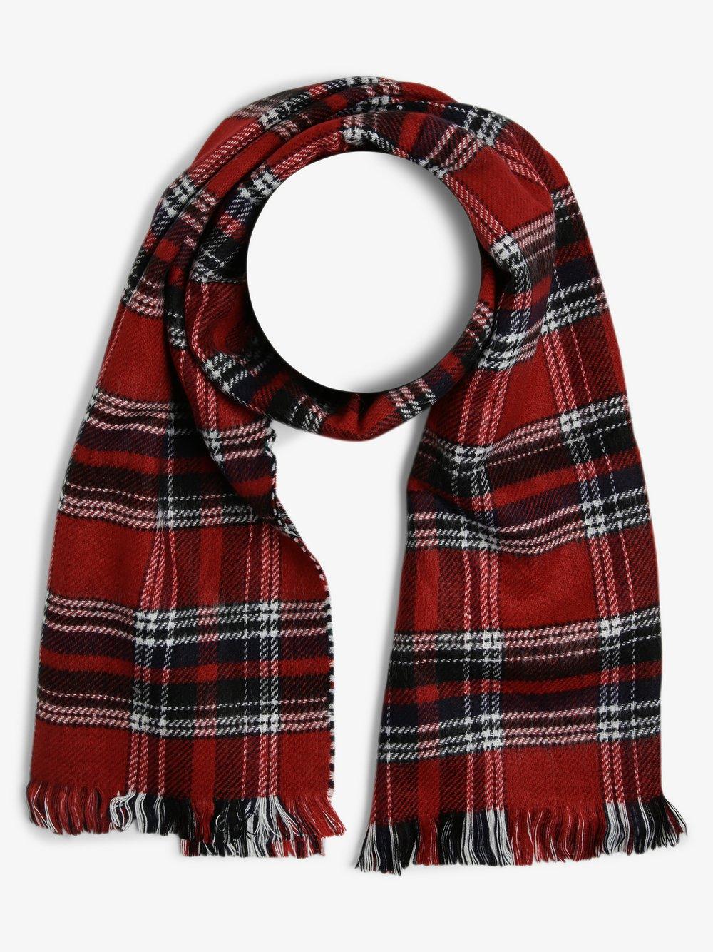 Finshley & Harding London – Szalik męski – Oxford, czerwony Van Graaf 487095-0001