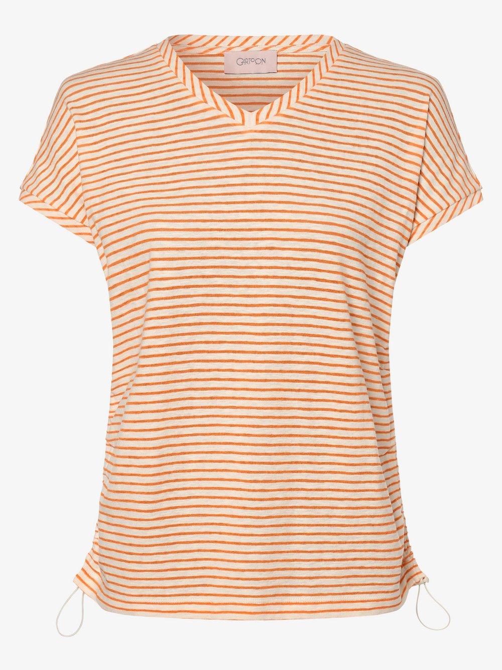 Cartoon UPgreat! – T-shirt damski, pomarańczowy Van Graaf 487180-0001