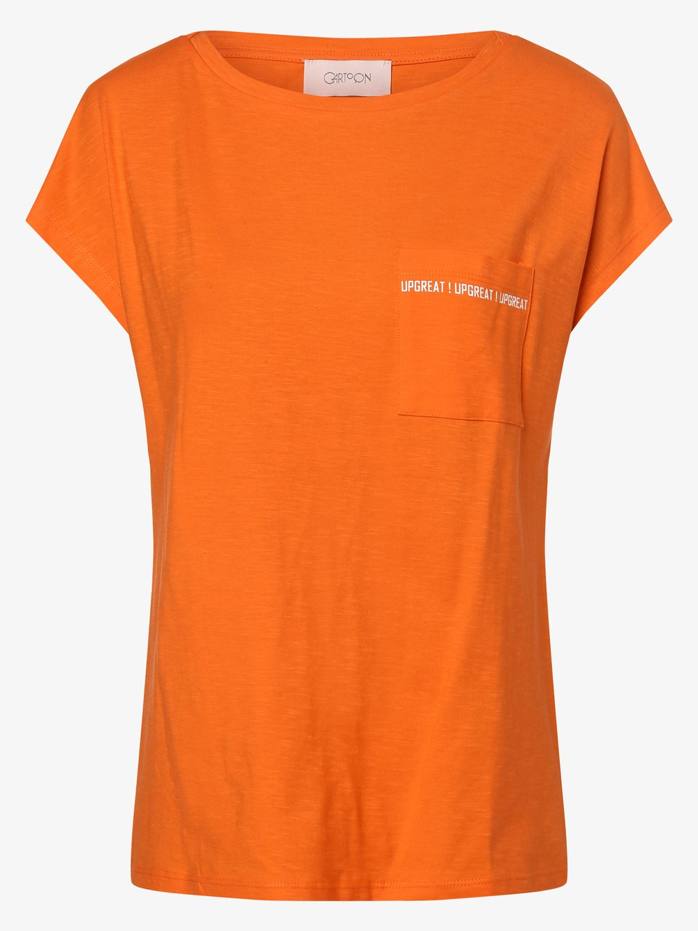 Cartoon UPgreat! – T-shirt damski, pomarańczowy Van Graaf 487181-0001-09920