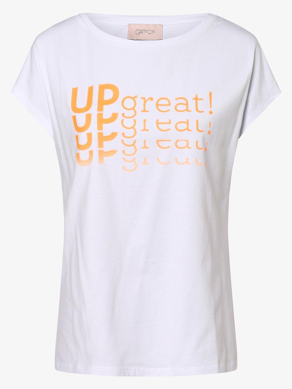 Cartoon UPgreat! - T-shirt damski, biały