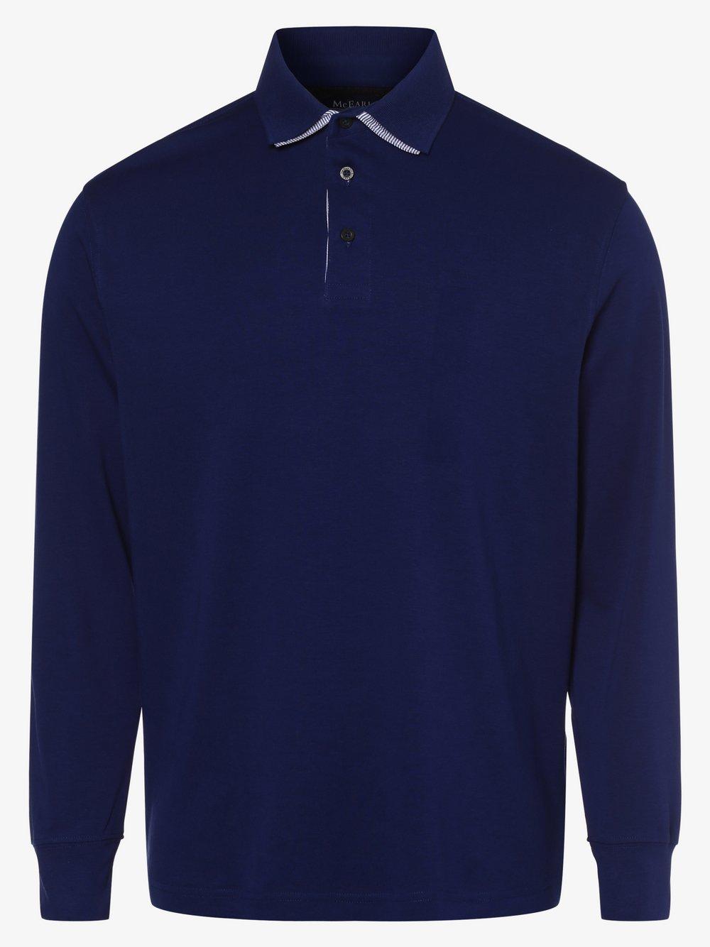 Mc Earl - Męska koszulka polo, niebieski