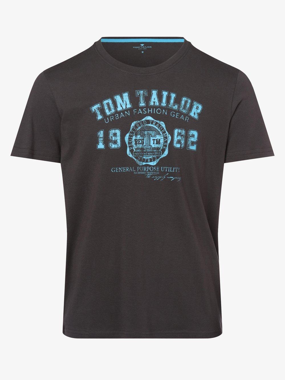 Tom Tailor – T-shirt męski, szary Van Graaf 487272-0003-09920