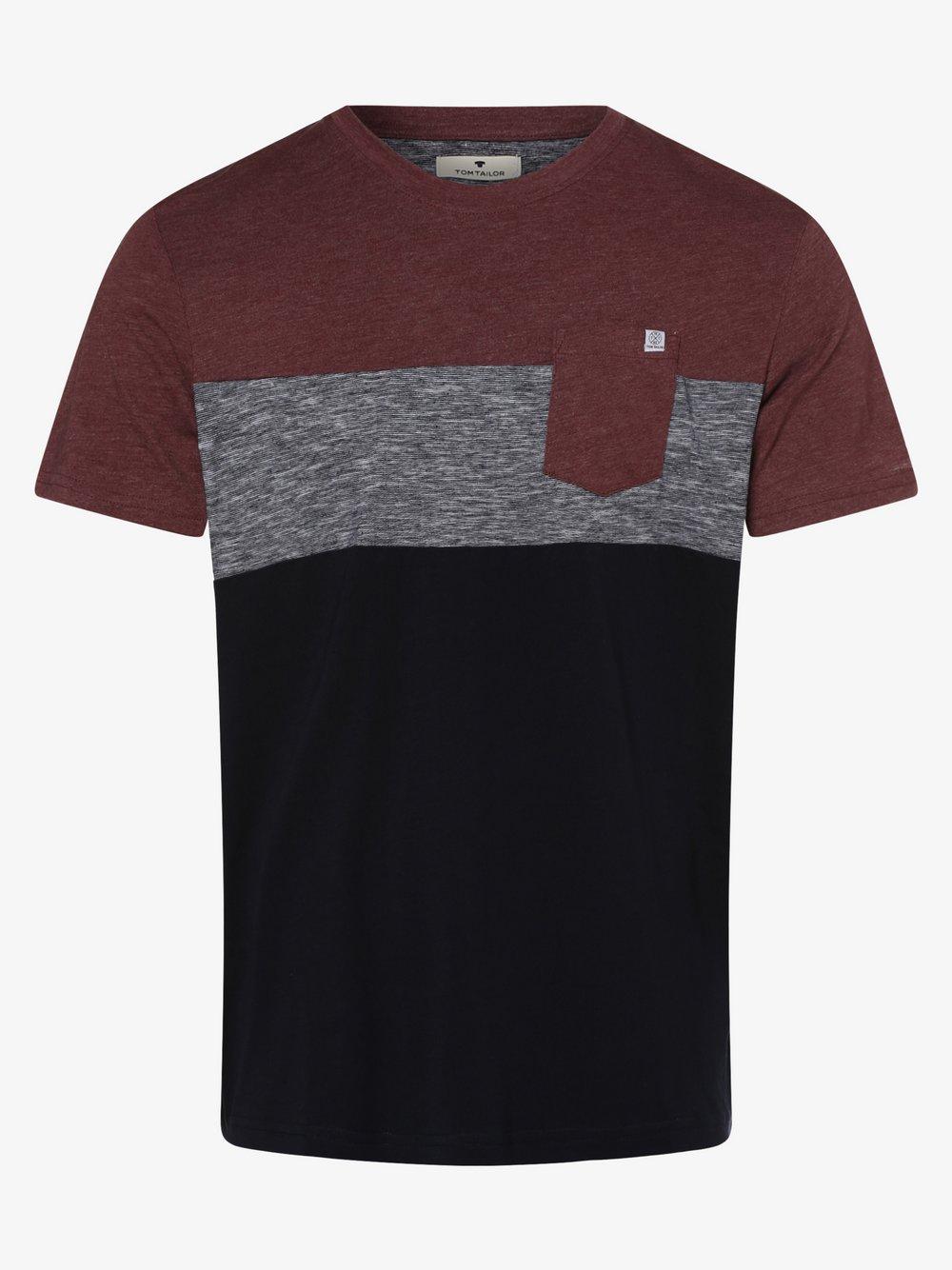 Tom Tailor – T-shirt męski, czerwony Van Graaf 487273-0002
