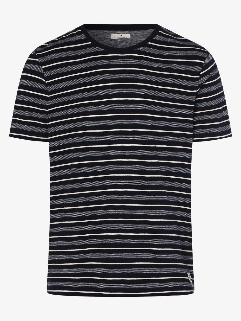 Tom Tailor – T-shirt męski, szary Van Graaf 487274-0002-09970